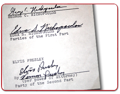 Essential Elvis Museum Loan Agreement For The Enichopoulos Home