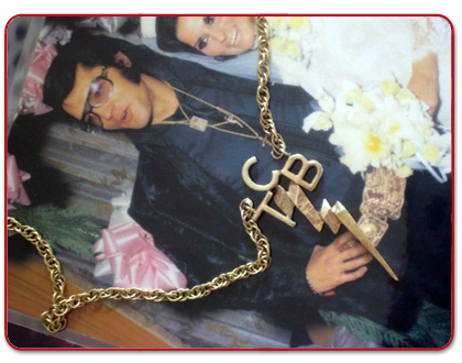 Essential elvis museum genuine tcb necklace in 1970 he devised the tcb oath along with this necklace the initials stand for taking care of business and the lightening mozeypictures Image collections